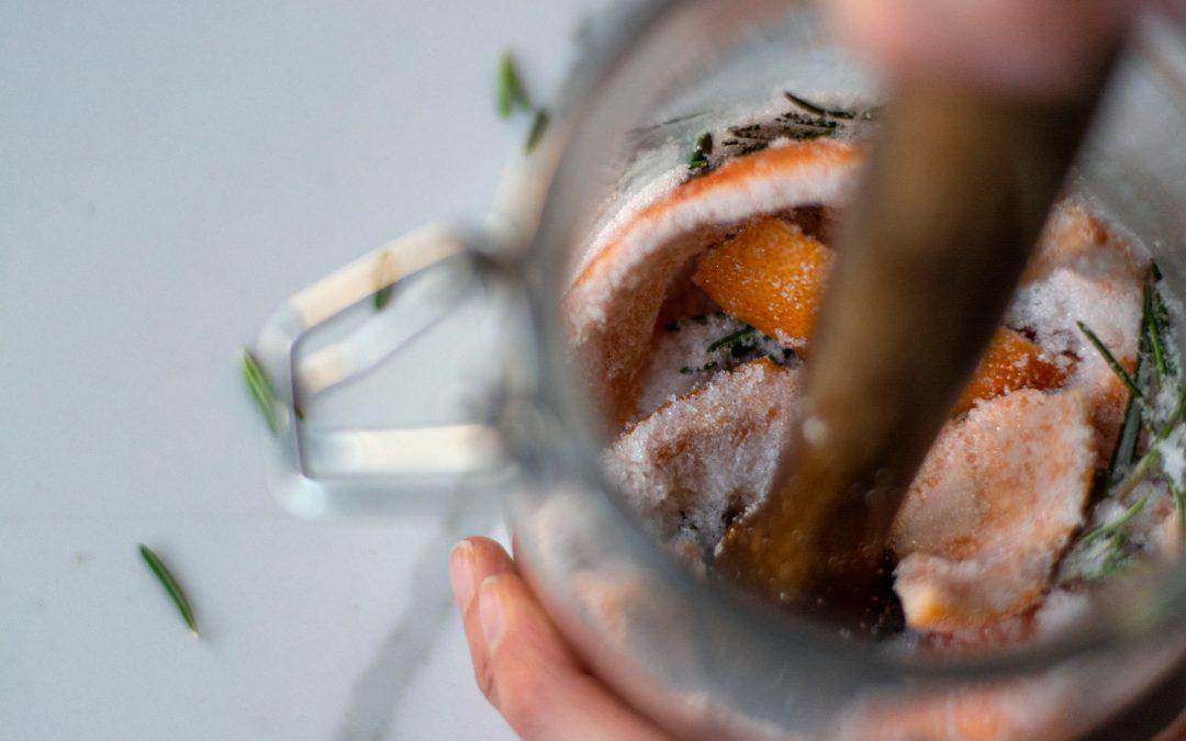 Grapefruit & Rosemary Shrub