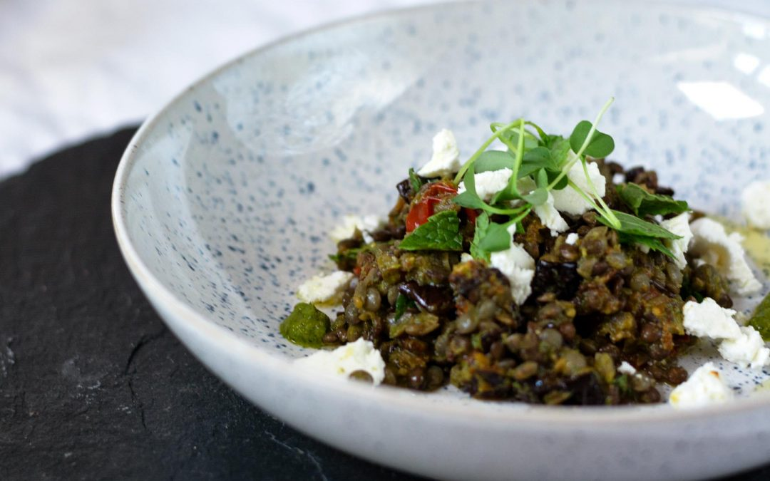 Lentil and Eggplant Salad