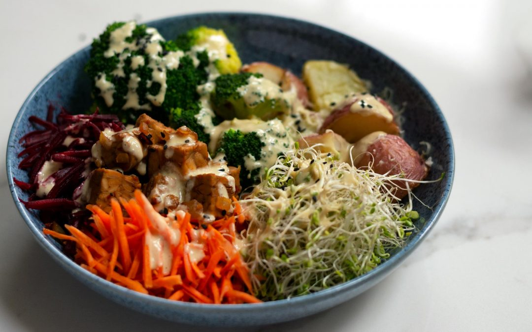 Mixed Vegetable Bowl with Miso Gravy